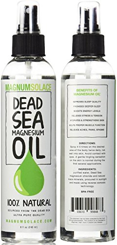 Magnesium Oil Spray 100% Pure From the Dead Sea - Large 8 oz Bottle LASTS SIX MONTHS - Made in USA - Exceptional #1 Therapeutic Source For Magnesium Chloride (Hormone Spray compare prices)