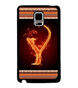 Printvisa 2D Printed Alphabet Y Designer back case cover for Samsung Galaxy Note Edge- D4216