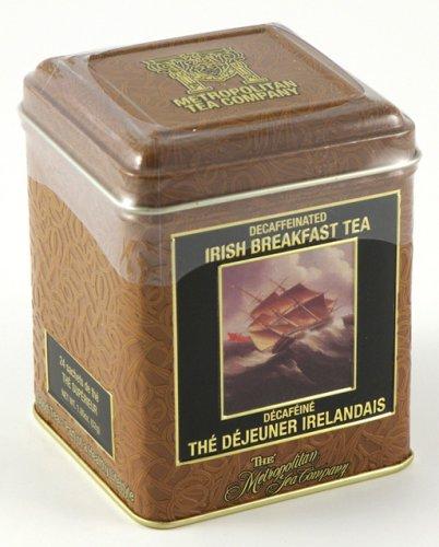 Gourmet Decaffeinated Irish Breakfast Blend Zimbabwe African Black Tea, 24 Bags In A Decorative Collectible Tin - Sale