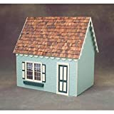 Real Good Toys Real Good Toys Cape Cottage Jr Dollhouse Kit - 1 Inch Scale, Brown, Medium Density Fiberboard