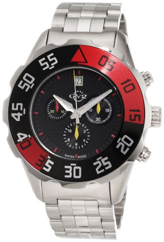 GV2 by Gevril Men's 3003B Parachute Chronograph Bracelet Date Watch