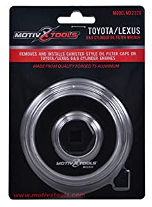 Toyota & Lexus Oil Filter Wrench Tool For 6 & 8 Cylinder Engines With 64mm Cartridge Style Filter Housings By Motivx Tools by Motivx Tools