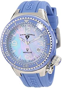Swiss Legend Women's 11844-BLBLSA Neptune Blue Mother-Of-Pearl Dial Watch