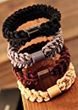 Blingys Original High Flexible Knit Twisting Hair Bands/Rubber Bands/Hair Ropes (4 Piece Combo Set) With Blingys Bag