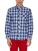 THE INDIAN FACE Camisa Hombre (Azul / Verde)