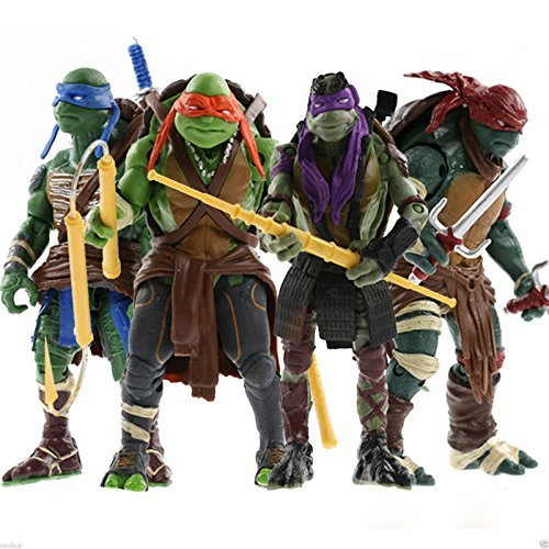 "2014 New Teenage Turtles Movie 5"" Action Figure TMNT 4pcs/Lot Toys"