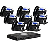 X16 Small Office Digital Phone System Bundle with 8 Phones Charcoal (XB-2022-28-CH) ~ Xblue