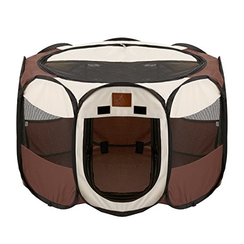 Parkland Pet Portable Foldable Playpen Exercise Kennel Dogs Cats Indoor/outdoor Removable Mesh Shade Cover (Playpen Cover compare prices)