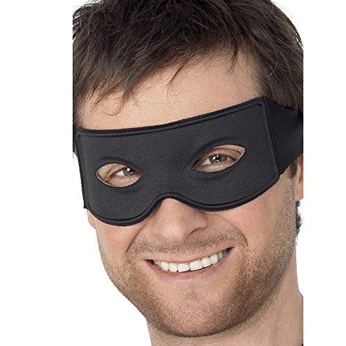 Smiffys  -  SM99717  -  Loup Masque pour Déguisement de Bandit -   Taille Unique   Noir