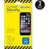 iPhone 6S Screen Protector, iMacket - iPhone 6S 6 Crystal HD Clear Screen Protector, Transparent Clear, Oleophobic, Fit Most Protective Case, 3-Pack