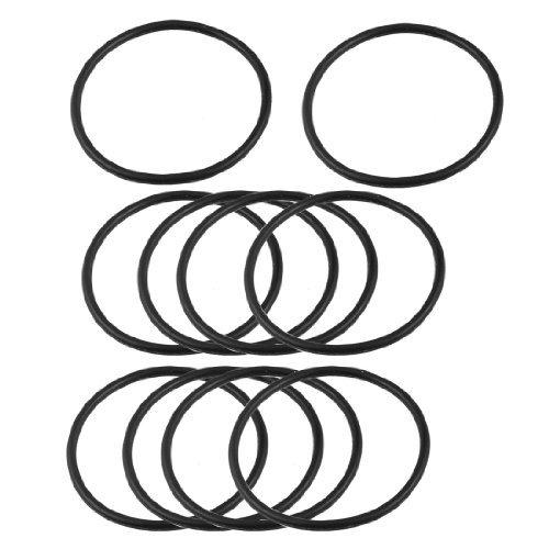 10 pcs 52,8 mm x 47,5 mm Flexible Gummi Dichtungsring Dichtung Unterlegscheibe Schwarz