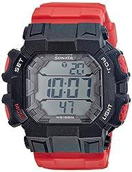 Sonata Ocean Series III Digital Multi-Color Dial Mens Watch - 77025PP02J