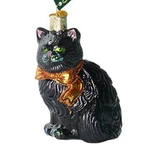 Old World Christmas Halloween Kitty Ornament