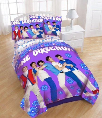 """One Direction Full Band Comforter Set Full Size """"Leaning"""" front-1033155"""