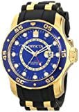 Invicta 6993 Men's Pro Diver GMT Blue Dial Black Rubber Strap Swiss Watch