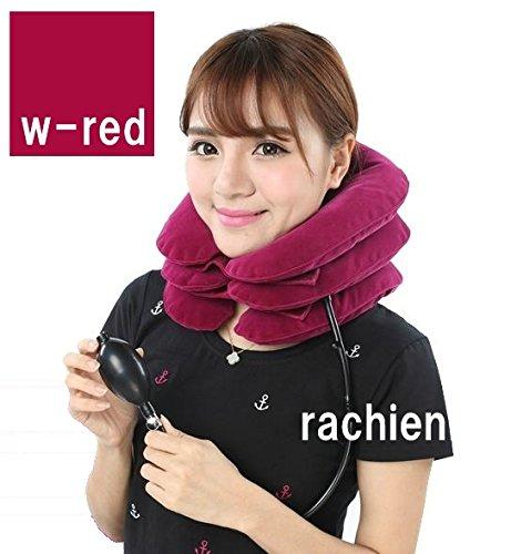 ネックストレッチャー 3段の空気で肩コリ解消首筋スッキリ ネックストレッチ 程よい空気圧でリラックス効果抜群マッサージ効果で血流促進ストレス解消に
