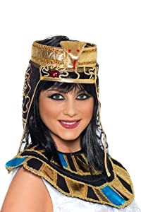 Smiffy's Egyptian Headpiece Gold and Black