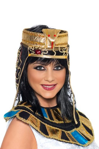 Smiffy's Women's Egyption Headpiece, Black/Gold, One Size