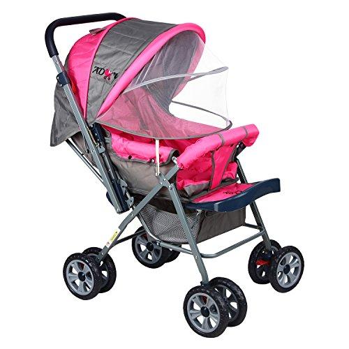 e1d7035d8 Ador Comfort Baby Stroller 33 Pink (With Net) 2799 Rs  Mrp -3999 ...