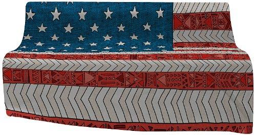 Deny Designs Bianca Green Usa Fleece Throw Blanket, 60 By 50-Inch