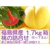 黄金桃と特秀品桃の詰合せ 『1.7kg箱 (5~7玉入) 』 ランキングお取り寄せ