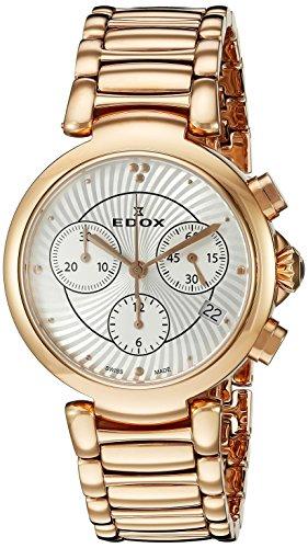 Edox Femme 1022037RM AIR lapassion Montre en acier inoxydable doré rose