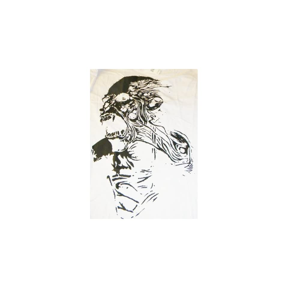 Screaming Skull Reaper Long Sleeve White Cotton Tee Shirt 3XL XXXL