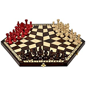 Wooden Three Player Chess 18 5 Toys Games