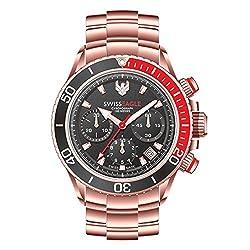 Swiss Eagle SE-9080B-RG-01-SM Analog watch For Men