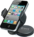 Laza Zip Grip Universal 360 Windshield Dashboard Car Cell Phone Mount Cradle Holder iPhone 5 4S 4 3g Samsung Galaxy S3 Note HTC Evo 4G LTE Rhyme Incredible 2 LTE Samsung Galaxy S2 Motorola Droid Bionic Blackberry Torch Nexus LG Optimus Elite 3d Elite G2X