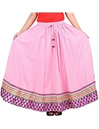 Beautiful Pink Cotton Solid Skirt