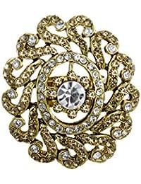 Zaveri Pearls Antique Gold Designer Finger Ring For Women - ZPFK5616