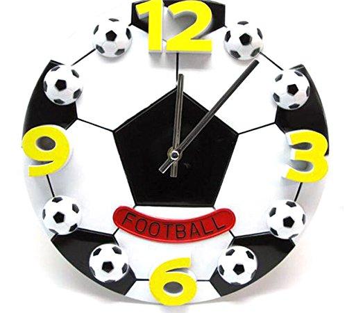 Wanduhr Kinderwanduhr Kinderuhr Uhr Wanddeko Fan Kinder Kinderzimmer Fußball – G günstig online kaufen