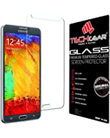 TECHGEAR® Samsung Galaxy Note 3 (N9000 / N9005) GLASS Edition Genuine Tempered Glass Screen Protector Guard Cover (Galaxy Note 3)
