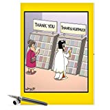J3757 Jumbo Funny Thank You Card: ThankYa With Envelope (Extra Large Version: 8.5'' x 11'')