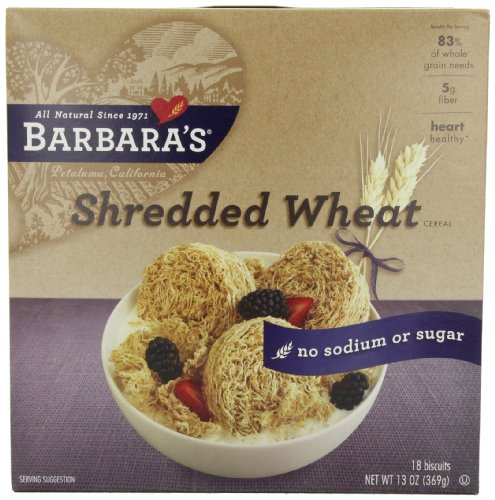 Barbara's Bakery Original Shredded Wheat, 13-Ounce Boxes (Pack of 4)