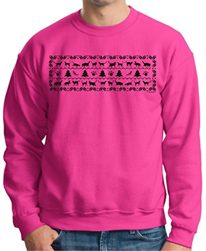 Kitty Cat Ugly Christmas Sweater Crewneck Sweatshirt Xx-Large Heliconia