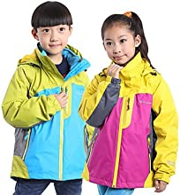 Tripolar Outdoor Children39s jacketsThe boys and girls Three in one jacket FA5362X - Sky Blue - XXL