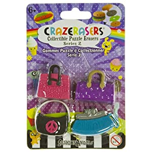 Handbag Fever (4 Mini-Erasers) - CrazErasers: Collectible Erasers Series 2