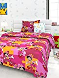 Story@Home Colorful Kids Cotton Single Bedsheet with 1 Pillow Cover - Multicolour
