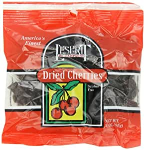 L'Esprit Dried Cherries, 3-Ounce Bags (Pack of 12)