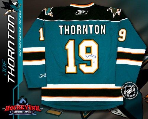 Joe Thornton San Jose Sharks Teal Reebok Premier Jersey - NHL Replica Adult ...