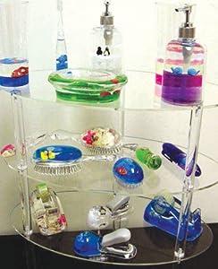 Children 39 s bathroom set lucite with ocean for Ocean themed bathroom sets