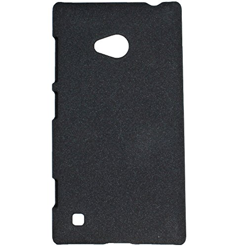 Heartly QuickSand Matte Finish Hybrid Flip Thin Hard Bumper Back Case Cover For Nokia Lumia 720 - Bold Black