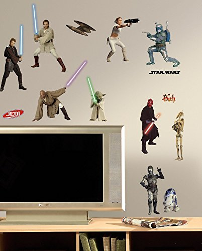 RoomMates RMK1876SCS Star Wars Episodes 1 thru 3 Peel and Stick Wall Decals - 1