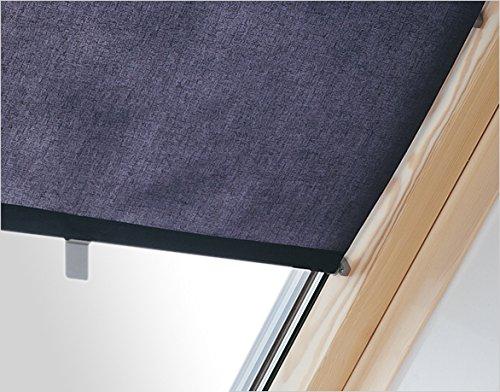 innenrollo rar cxa dunkelblau 37 cm breit f r dachfenster gr e c2a 55 x 78 cm und c4a 55 x 98 cm. Black Bedroom Furniture Sets. Home Design Ideas