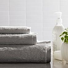 Portico Organic Slub Hand Towel 16 by 28-Inch Stone