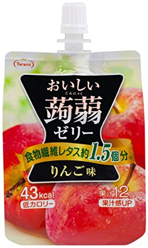 I do like konnyaku jelly apples taste good 150 g x 6