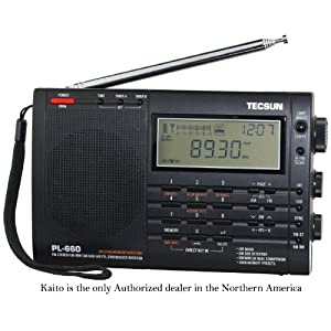 TECSUN PL660 Portable Radio FM/LW/MW/SW/SSB/AIRBAND PLL World Band Synthesized Receiver, LCD Display, Dual Conversion