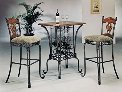 Venetian Bar Table Set By Acme Furniture